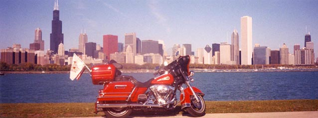 Motorcycle on Chicago Lake Front